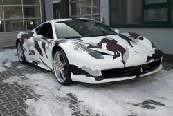Ferrari Italia 458 Wrapped in Camouflage